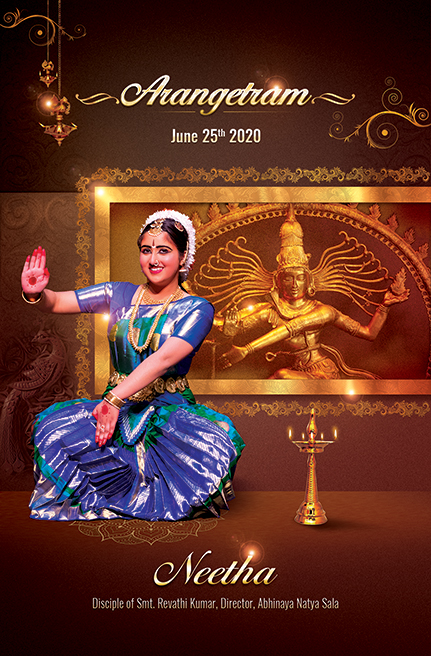 Arangetram Invitation USA