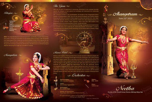 Arangetram Brochure Template