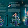 Peacock Brochure Design Template for an arangetram in USA