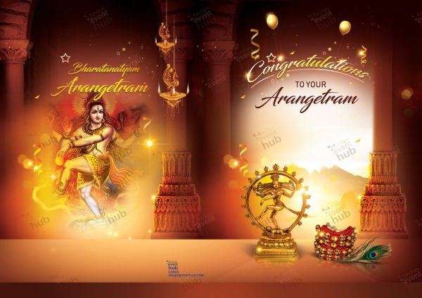 Arangetram Gift in USA Greeting Cards