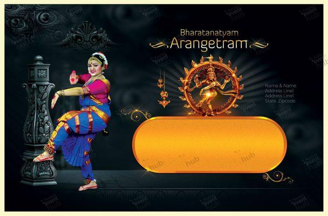 Arangetram Invitation Envelop size guide