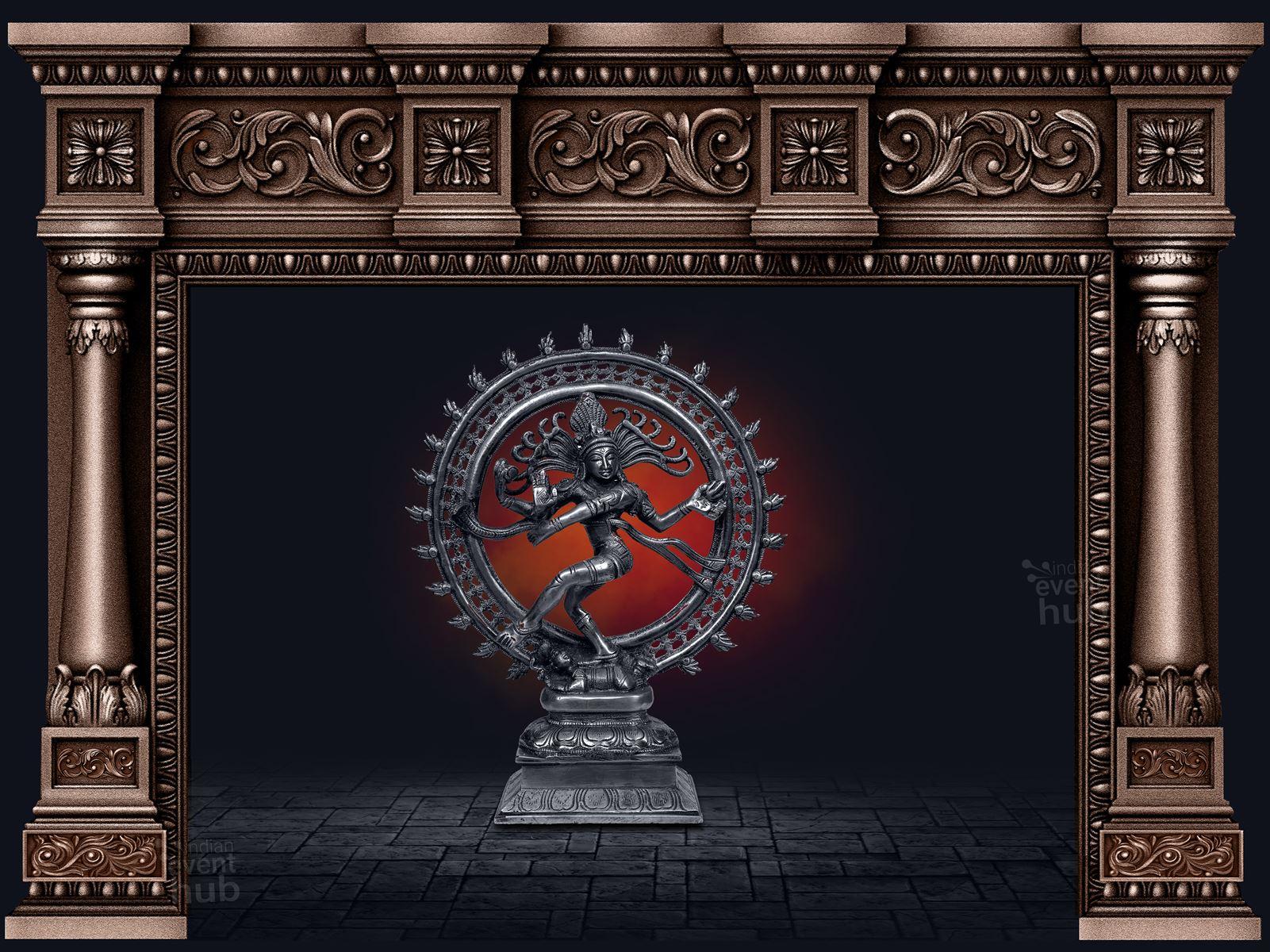 Stage Backdrops for Bharatanatyam Arangetram